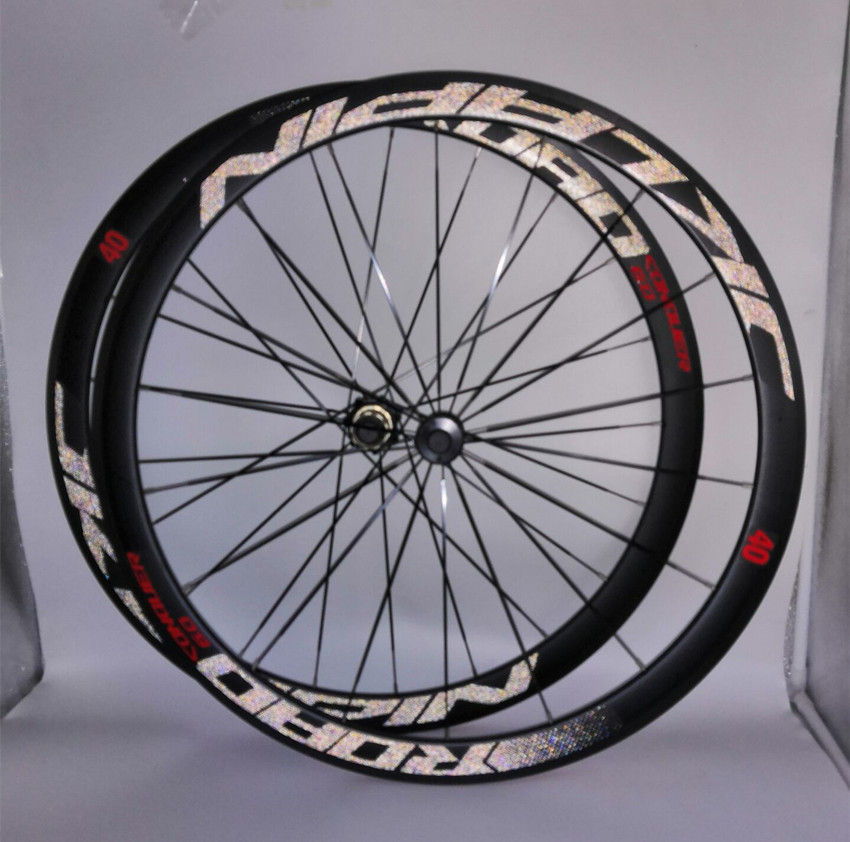 C6.0 super-light aluminum road bicycle sealed bearing wheelset flat spokes racing 40mm rims 700C with anti-cursor