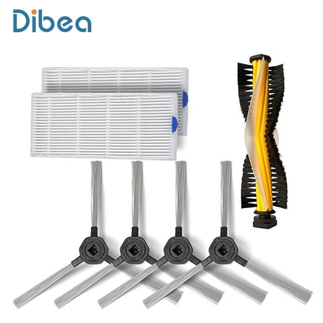 Сменная боковая щетка, Hepa фильтр и вращающаяся щетка Запчасти Аксессуары для Dibea D960 пылесос