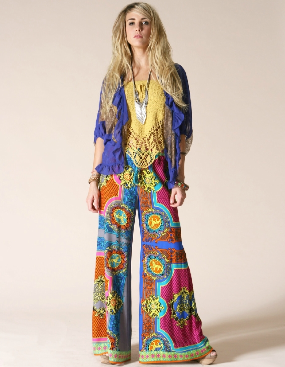 Online Shop Aztec Bohemia national trend pants wide leg pants ...
