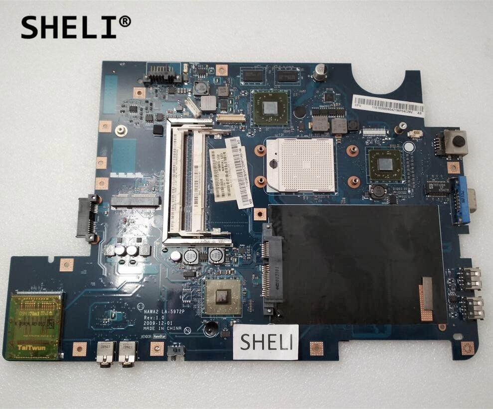 SHELI For Lenovo G555 Motherboard NAWA2 LA-5972P 11S69039841 69039841