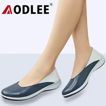 AODLEE Plus Size 35-42 Fashion Summer Hollow Loafers Women Flats Split Leather Shoes Woman Slip On Ladies Shoes Casual Moccasins