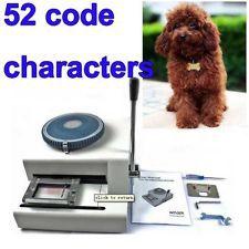 52 Символов Руководство GI Военно-Стальной Металлический Собака Тегов Embosser ID Карты Тиснения и Тиснения, Сталь Тиснение Машина