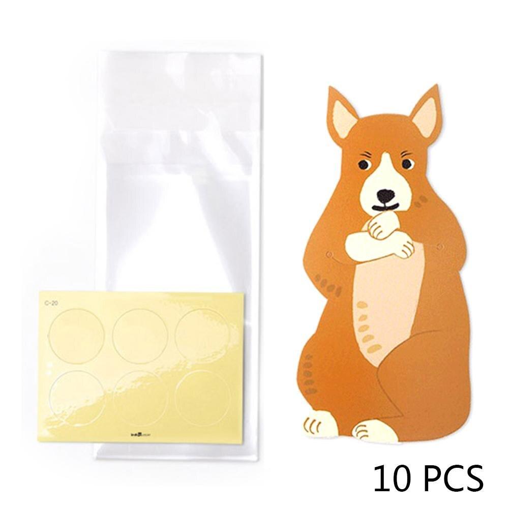 10pcslot Cute Animal Bear Rabbit Koala Candy Bags Greeting Cards