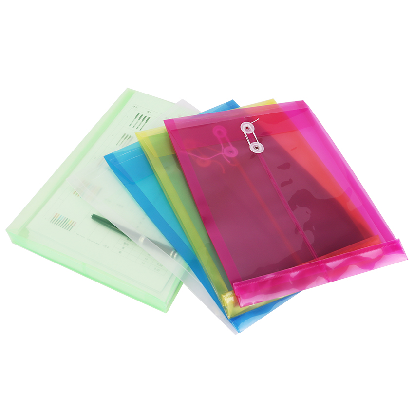 1PC Stereoscopic A4 File Management Bags Transparent Plastic Document Bag Filing Folder Stationery Office School Supplies