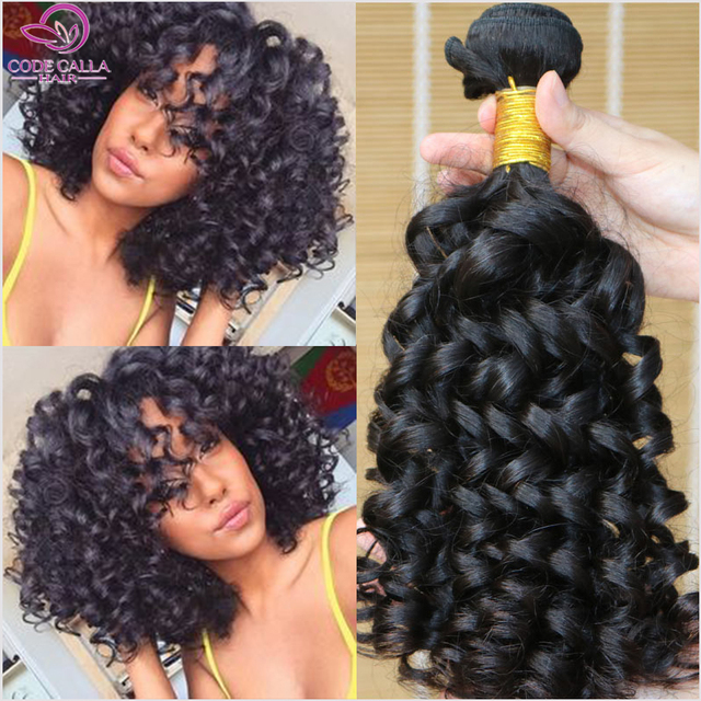 6a Malaysian Curly Hair Spiral 3 Bundles Human Weave Jerry Curl Aliexpress