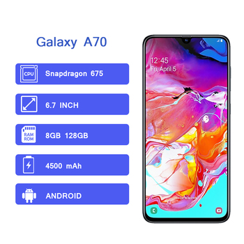 Samsung Galaxy A70 Cellphone Full screen Samsung Mobile Phones
