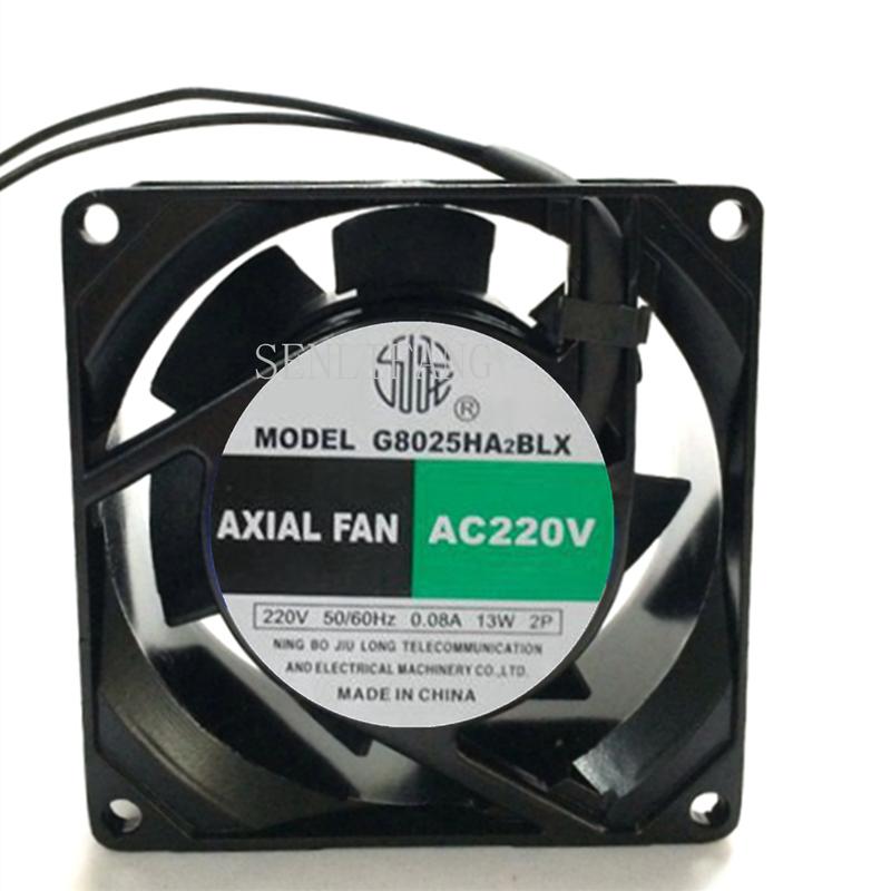 For AXIAL G8025HA2BLX AC 220V 0.08A 80X80X25mm Server Spuare Fan