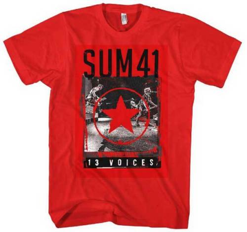 SUM 41 - Red Star 13 Voices - T SHIRT S-M-L-XL-2XL Brand New - Official T Shirt
