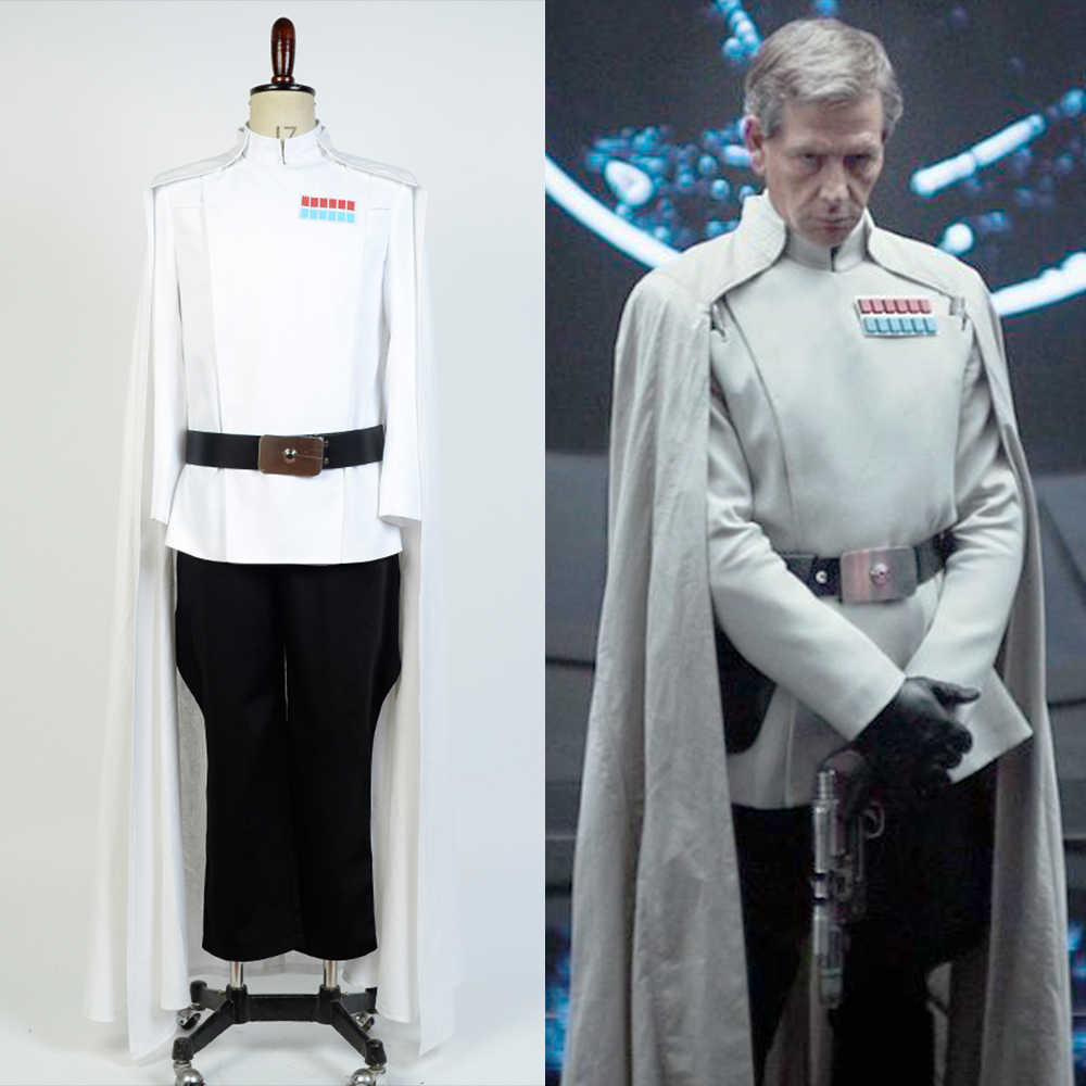 2018 Star Wars Rogue One Director Orson Krennic Cosplay Costume Men S Cloak Suit Full Set