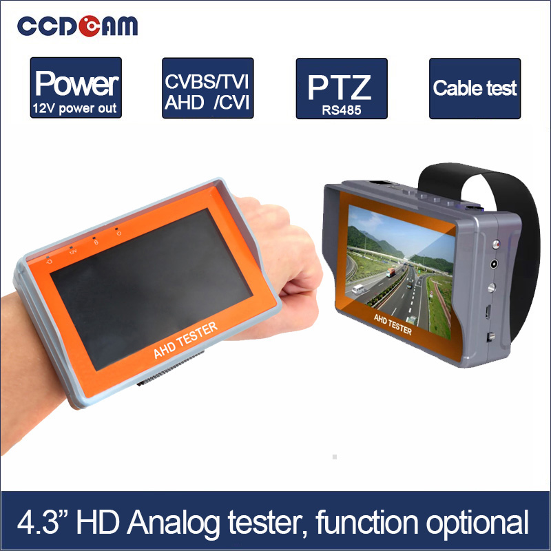 "bilder für CCDCAM Freies verschiffen 4,3 ""funktion optional 1080 P AHD TVI CVI CVBS Kamera Test farbe Monitor Tester 12 V Leistung 485 Test"