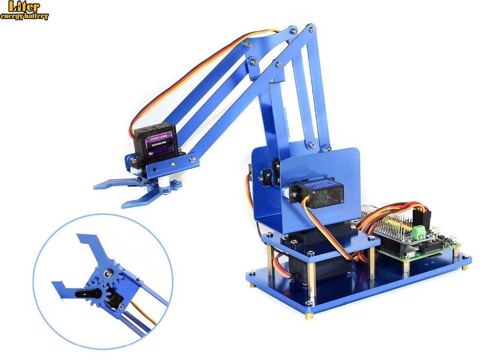 4-DOF Metal Robot Arm Kit For Raspberry Pi Zero/Zero W/Zero WH/2B/3B/3B+ Bluetooth / WiFi Remote Control