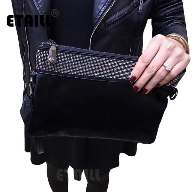 2017 Diamond Horsehair Women Clutches Designer Evening Bags Famous Brand Genuine Leather Horse Hair Clutch Ladies Hand Bags