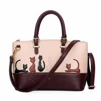 ZENTEII Women Faux Synthetic Leather Cat Handbag