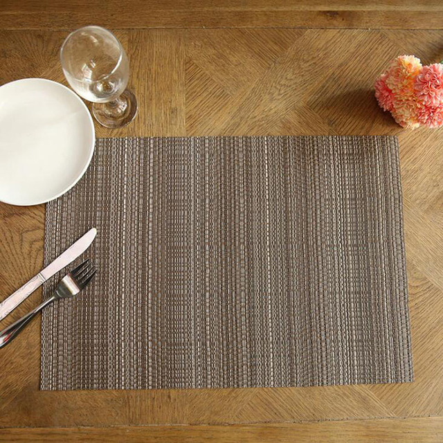 High Quality PVC Weave Placemat Heat Insulation Non Slip Table Mats  Creative Dining Table Mat