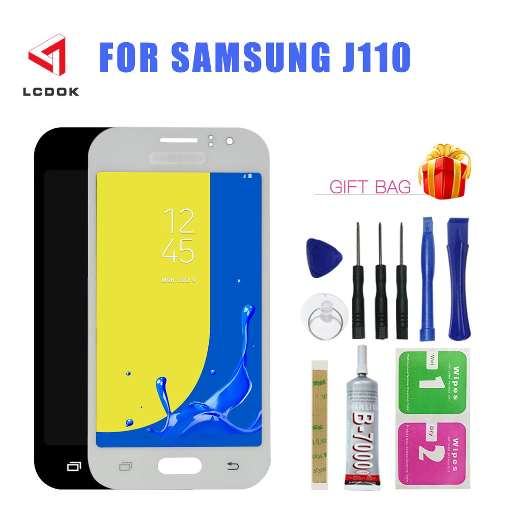 Adjust Brightness LCD For <font><b>Samsung</b></font> Galaxy <font><b>J1</b></font> <font><b>Ace</b></font> J110 J110F J110H J111 J111F LCD <font><b>Display</b></font> Touch Screen Digitizer Assembly Panel image
