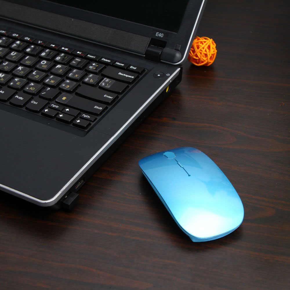 1600 ديسيبل متوحد الخواص USB ماوس الكمبيوتر اللاسلكي البصري 2.4G استقبال سوبر سليم فأرة للكمبيوتر المحمول