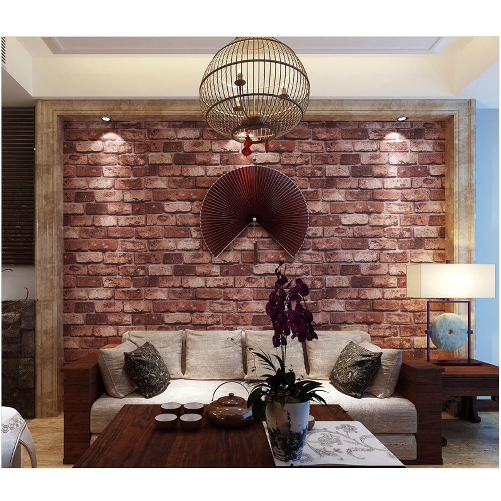 Online kopen wholesale baksteen stijl behang uit china baksteen ...