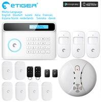 DIY умный дом Охранная сигнализация Etiger GSM сигнализация система времени снятие с охраны домашней безопасности Gardian сигнализация с приложение