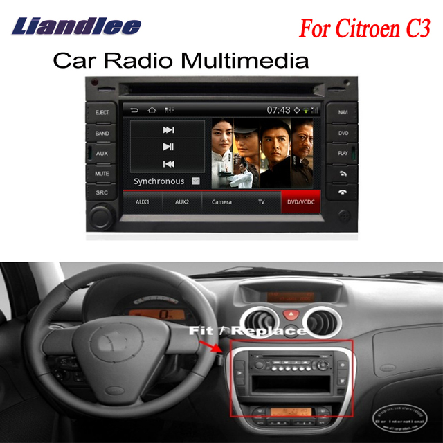 US $329 38 15% OFF|Car Android GPS Navigation Radio TV DVD For Citroen C3  2002~2009 Player Audio Video Stereo Multimedia System-in Car Multimedia