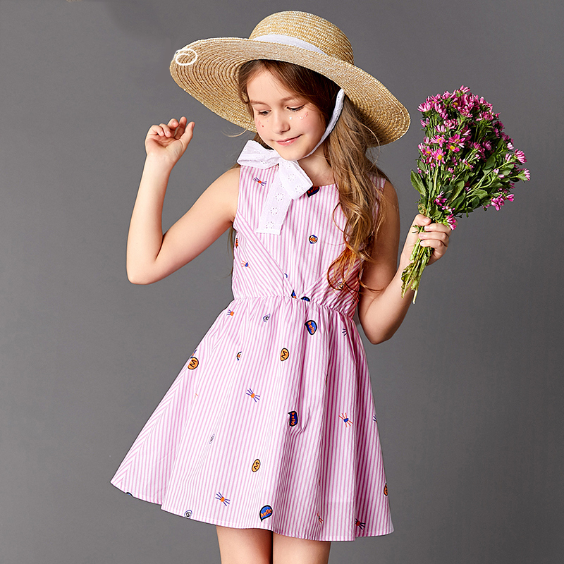 Robe de copines robes enfant robe velours rayé