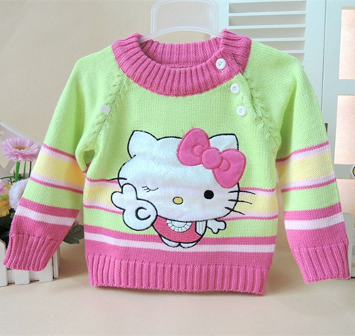 New arrival baby pullover knit sweaters fashion kids girls newborn sweater  casual cute pattern baby clothing