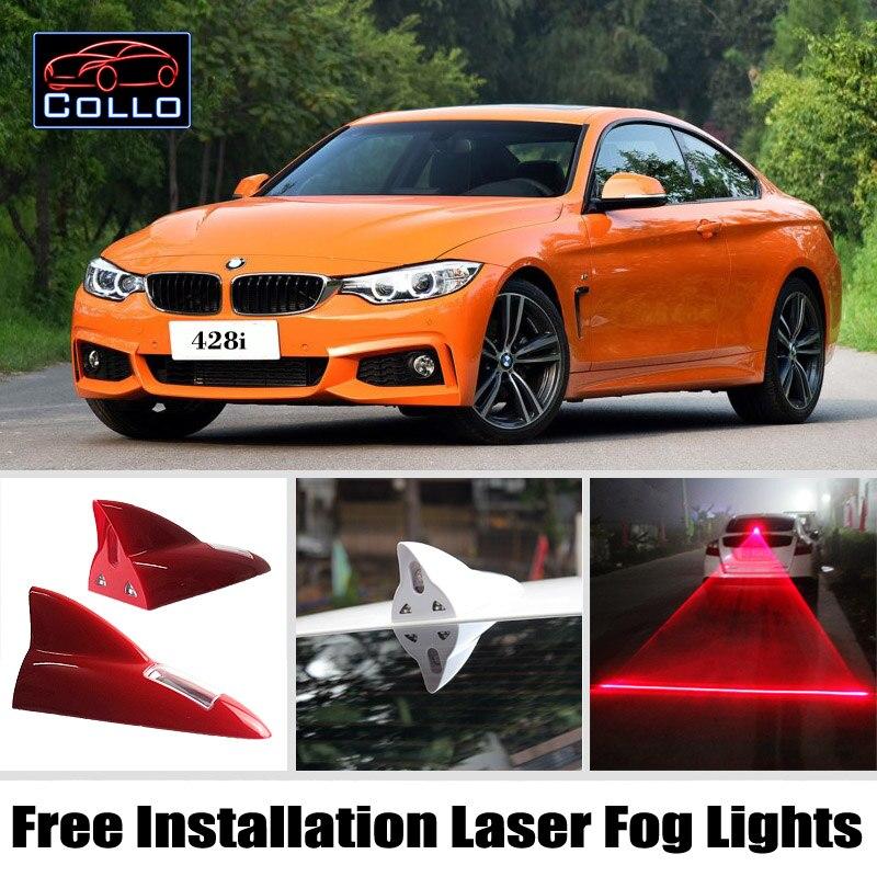 Installation gratuite Pour BMW 4 M4 F32 F33 F36 F82 F83/8 E31/Énergie Solaire D'aileron de Requin Laser Brouillard Lumières Multiples Mode Avertissement Lampe