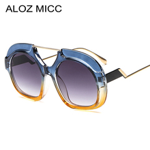 ALOZ MICC Vintage Round Sunglasses Women Men Brand Designer 2018 Fashion Oversized Sun Glasses Female Eyewear Oculos UV400 Q626