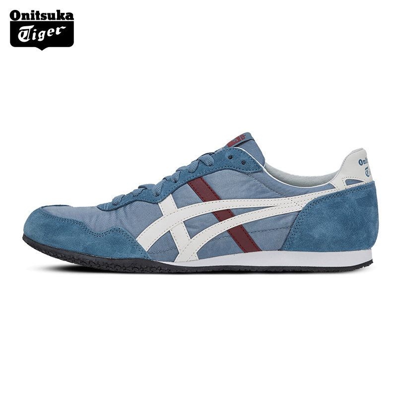 Onitsuka Tiger Outdoor Breathable Men Sport Shoes SERRANO Women Classics Sneakers Lightweight  Anti-Slippery Jogging Shoes D109L peak sport speed eagle v men basketball shoes cushion 3 revolve tech sneakers breathable damping wear athletic boots eur 40 50