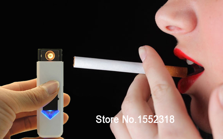 10 pcs/lot New USB Electronic Rechargeable Battery Flameless Cigarette Cigar Lighter Multi-Color Lighters & Smoking Accessories - Honesty Boutique CO.,LTD store