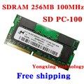 Пожизненная гарантия для микрон gps-sdram 256 МБ 512 МБ 100 мГц PC-100 SD 256 м портативный ноутбук памяти первоначально 144PIN SODIMM