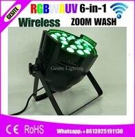wireless control Stage Light 18*18W Led Par Zoom RGBWA UV 6IN1 WIRELESS DMX DJ