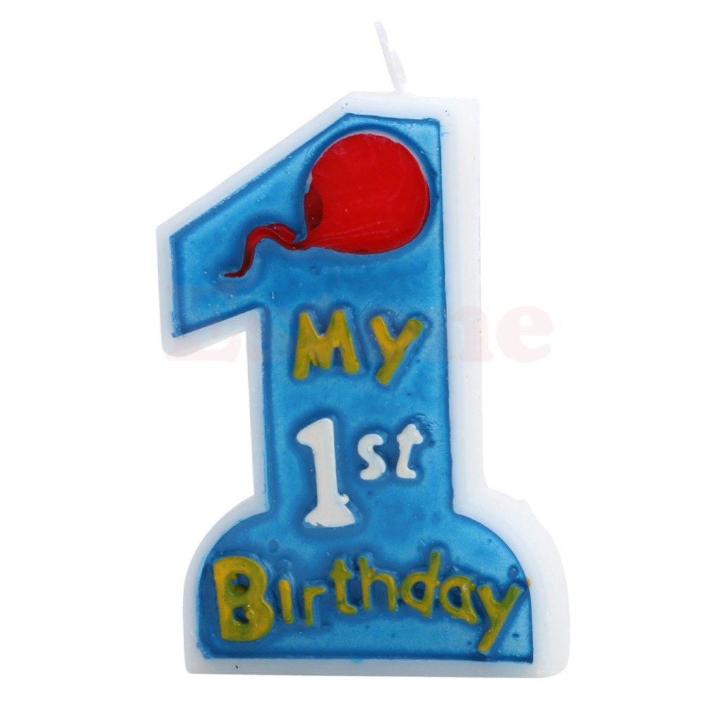 New Kids First One Anniversary Candle My 1st Birthday Toothpick Cake Party Decor