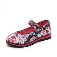 Công chúa Cô Gái Giày Trẻ Em Mới Giày Duy Nhất của 3D Tranh Thời Trang Dễ Thương Trẻ Em Da Đanh Mềm Da Cao Su Đế Sneakers