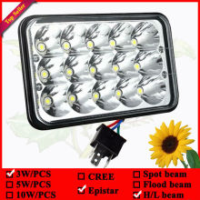 """7"""" 45W high beam / Low beam in the one LED truck lights used for Kenworth trucks Semi led work light"""