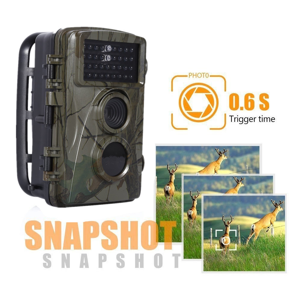 12MP 720P Hunting Camera H3 IP54 Waterproof Wild Trail Camera Infrared Night Vision Animal Observation Recorder 12