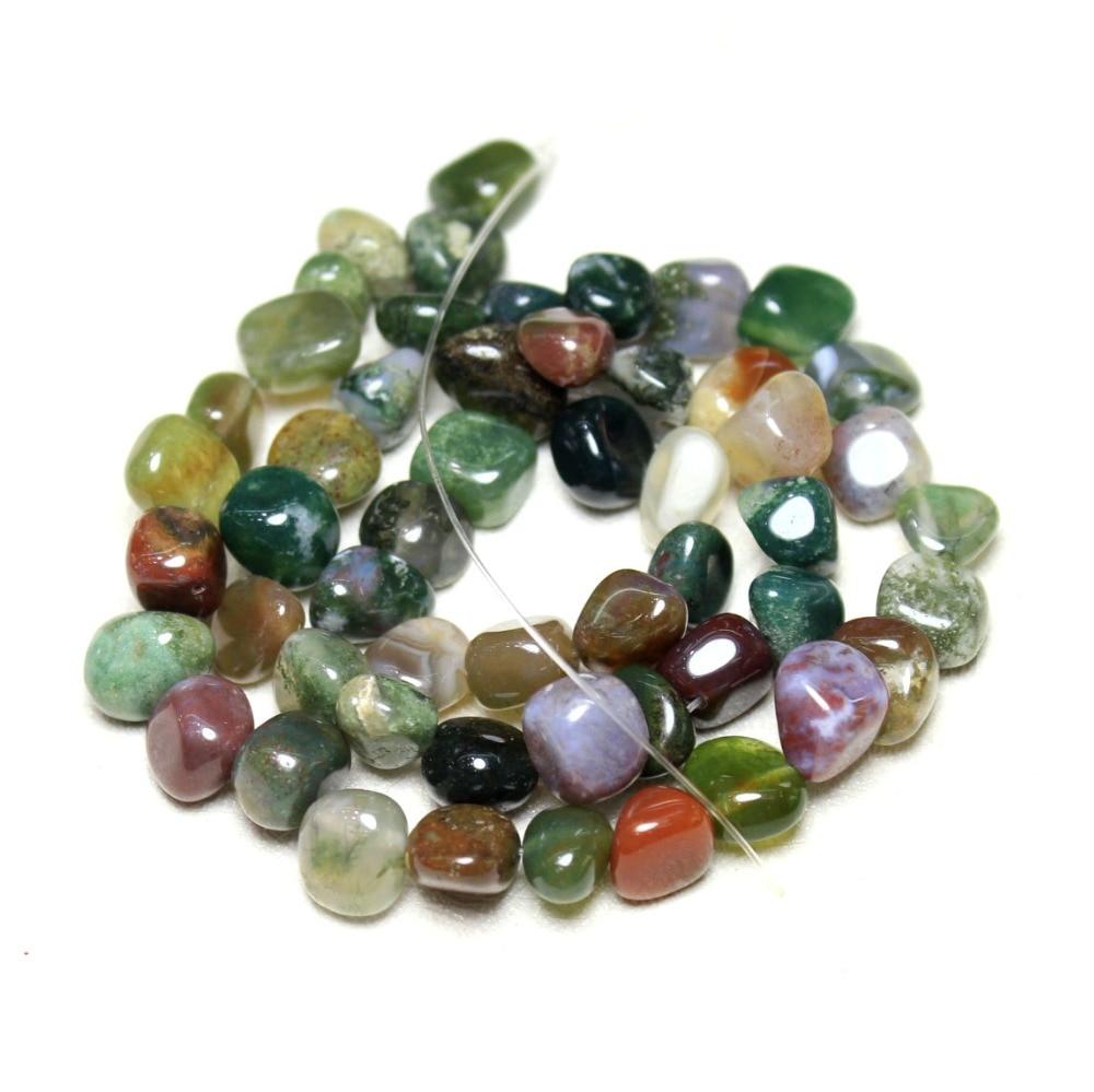 Wholesale 6-11mm Irregular Side Hole Natural India Agat Stone Beads For Jewelry Making DIY Bracelet Necklace Beads Strand 15''