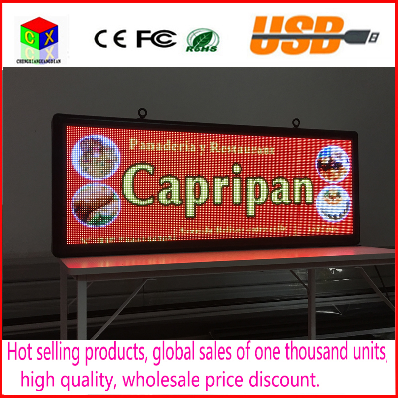 P5   Free ship  SMD3528 LED  display panel  indoor advertising RGB 7 advertisement size:103cmX39cm(40