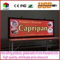 SMD3528 CONDUZIU o painel de exibição de publicidade indoor P5 RGB 7 cor tamanho do anúncio: 103 cm X 39 cm (40 ''x 15'') led sign