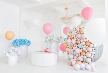 Laeacco Colorful Balloons Flowers Baby Newborn Child Photography Backgrounds Customized Photographic Backdrops For Photo Studio
