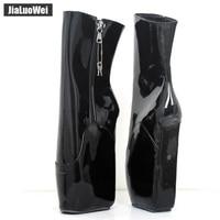 Для женщин балетные сапоги 18 см высокая танкетка копыта подошва нешипованной Фетиш экзотические туфли C68