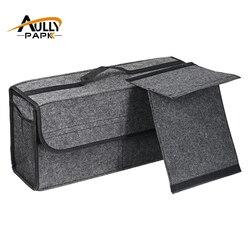 رأى سيارة جذع حقيبة السيارة أداة مربع متعدد الاستخدامات منظم حقيبة السجاد للطي اكسسوارات السيارات الداخلية