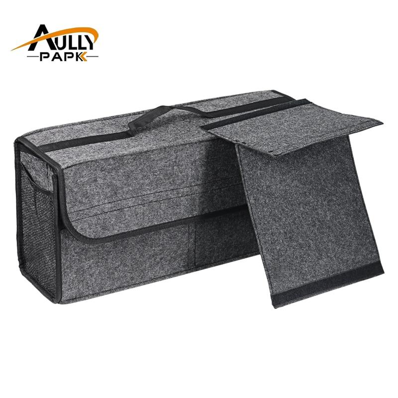 Bil Felt Opbevaringsboks Trunk Bag Køretøj Værktøjskasse Multifunktionsværktøj Organizer Bag Tæppe Folding Biler Interiør Tilbehør