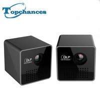 High Quality 2PCS Lot Portable P1 WIFI Wireless Pocket Projector LPD HD Video Pico Built In