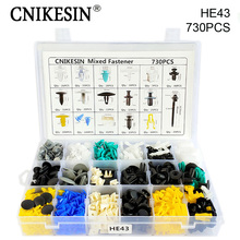 CNIKESIN 17 Kinds Mixed 730PCS Auto Fastener And Tool Universal Car door plate Bumper Fender Retainer Clips for All Car Series