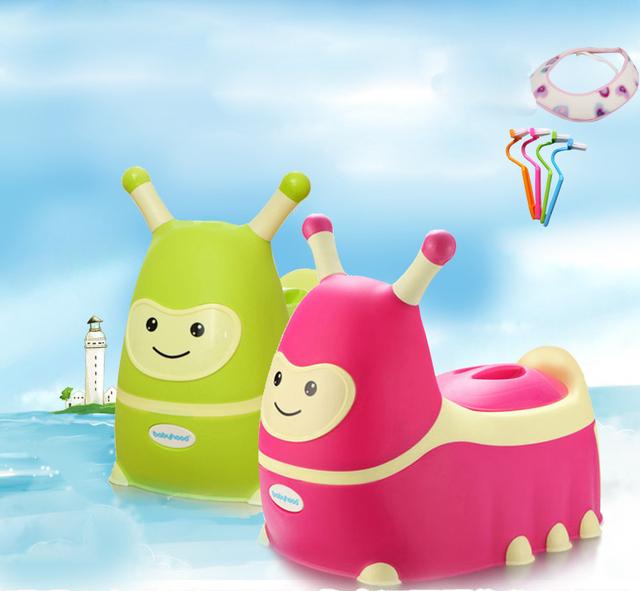 Lagarta dos desenhos animados Chirdren Pinico Higiênico Potty Do Bebê Portátil Criança Assento Do Vaso Sanitário Higiênico Crianças Formadores Assento De Vaso Sanitario