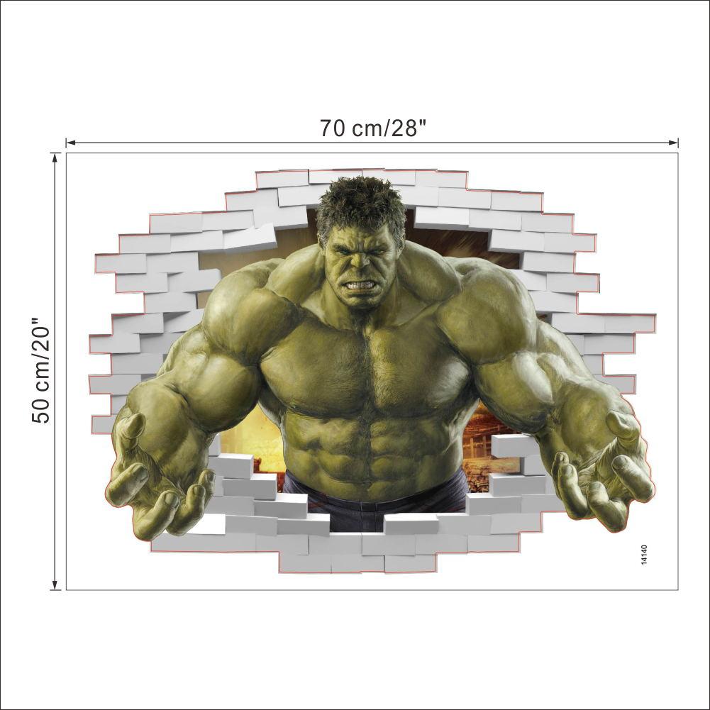 Superhero Decorative Sticker - The Incredible Hulk - Super Comics Online