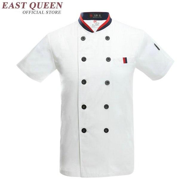 Camisa camisa homens uniformes chef de cozinha do hotel restaurante uniforme  roupas hotel chef de cozinha b6af236acbe64