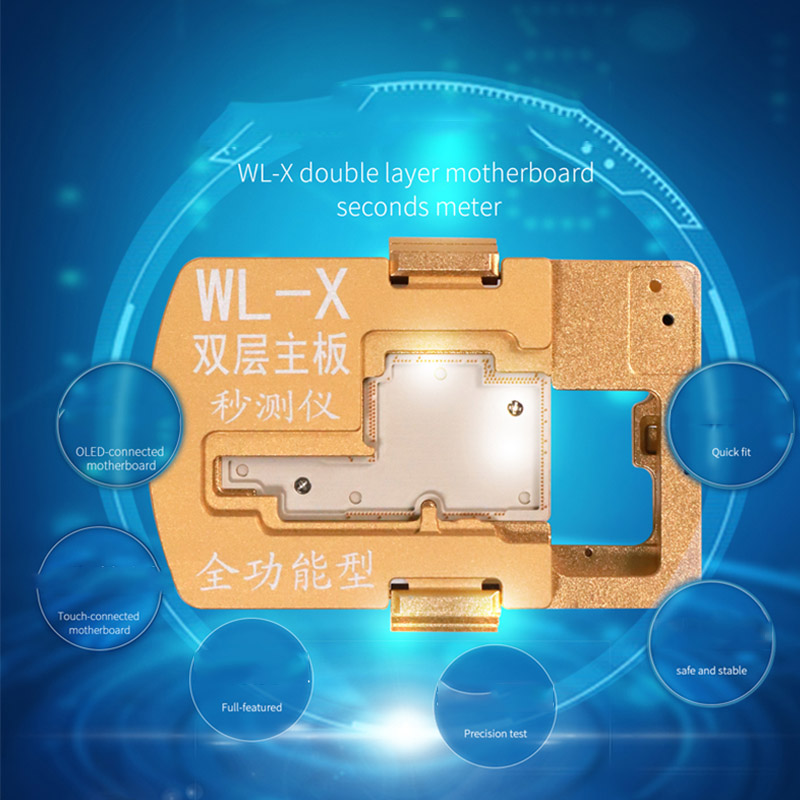WL-X-Comprehensive iPhone X Motherboard Double Board Tester LCD Displays Touch Baseband NFC Camera Function Tester Fast Tester