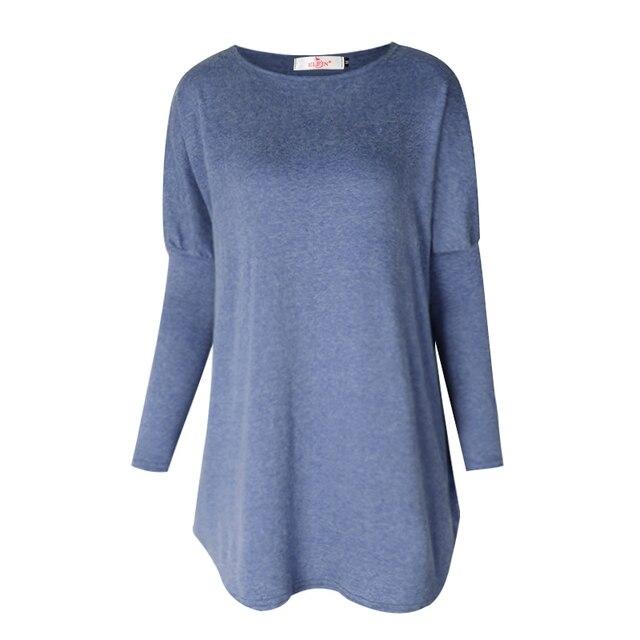 Sweater Tops Women 2017 Autumn Winter Long Sleeve Plus Size Pullovers  Elegant Women  Loose Female Sweater Clothing WS1401Y 1
