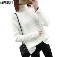 2017 Fashion Women Sweater Female Winter Autumn Jumper Cashmere Pullover Turtleneck Knitted Long Sleeve Solid Warm